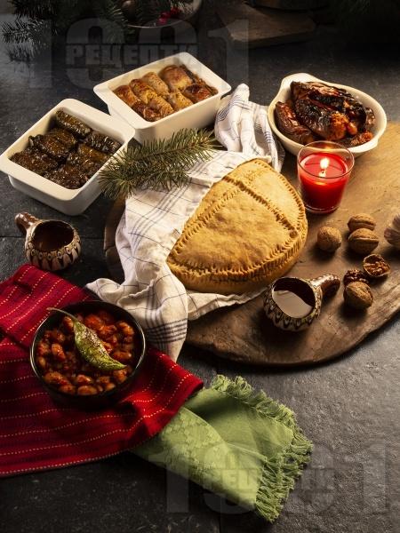 Постна содена питка за Бъдни вечер или Коледа - снимка на рецептата